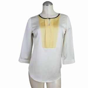 3/$25 The Limited XS Blouse Ivory Yellow Black